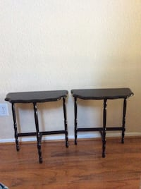 Two black wooden side tables Houston, 77089