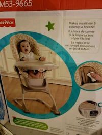 baby's brown and blue bouncer seat box Pickering