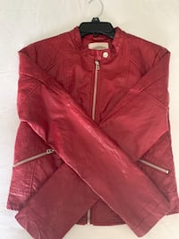 Red jacket with zippers