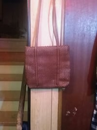 brown and white leather crossbody bag Calgary, T2B 0E5