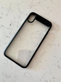 Black iPhone X/XS Hard Case with Clear Back Homer Glen, 60491