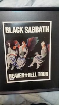 Black Sabbath heaven and Hell program autographed