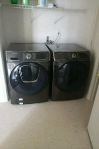black front-load washer and dryer set Colorado Springs, 80902
