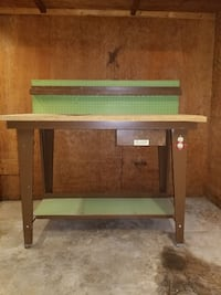 Work table with outlet options  1360 mi