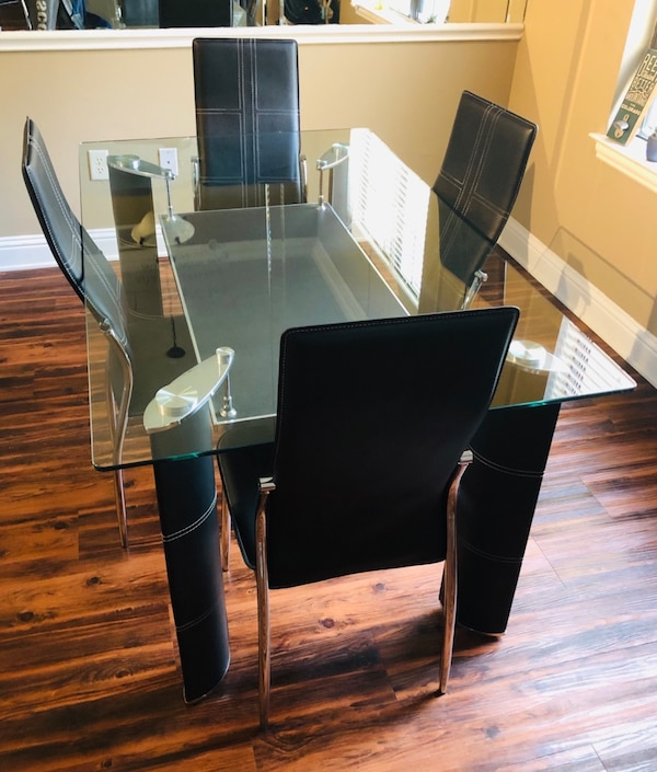 Elado Hasznalt Glass Dining Table Set Dallas Letgo