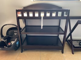 Baby changing table espresso color