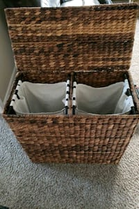 brown wicker basket with lid Sacramento, 95829