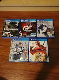 four assorted PS4 game cases Welland, L3C 2K2