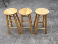 Wood Bar Stools. Gently Used. Good Condition. Set  Springtown, 76082