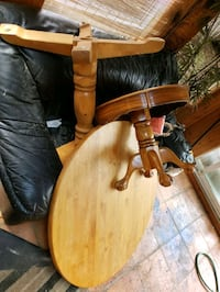 Solid wood dining table with leaf   and end table