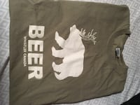 Men's large beer T-shirt Calgary, T2A 6R8