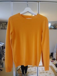 (Joe) Orange Creamsicle Cashmere sweater Burnaby
