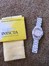Women's invicta white ceramic watch Rutherford, 07070