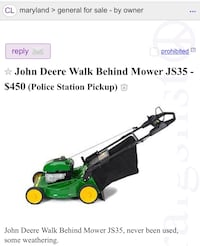 John Deere Push Mover Germantown, 20874