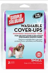 2 Washable Small Diaper Cover-ups Small Dog Mississauga, L5A 3B2