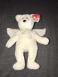 white bear TY Beanie Baby Derwood, 20855