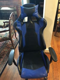 Gaming Chair | Blue and Black w/ Pillow | Silver Spring, 20901