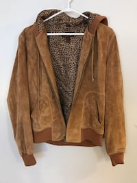 Real Suede Bomber Jacket with Hood Sydney, B1P 4E5