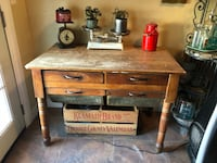 Primitive antique bakers table with bins Thousand Oaks, 91320
