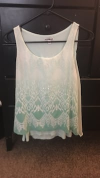 white and green floral tank top Wappinger, 12590