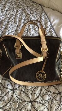 black and brown Michael Kors leather 2-way bag Los Ángeles, 91367