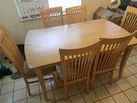 rectangular brown wooden table with six chairs din Altamonte Springs, 32714