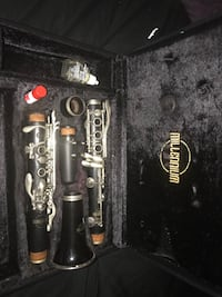 Black and gray clarinet with case Menasha, 54952