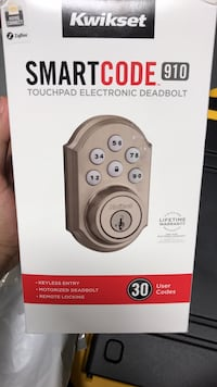 Kwikset smartcode 909 touchpad electronic deadbolt box