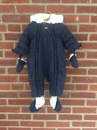 Classic Infant Girl Winter Jumpsuit, 6 M Washington, 20007