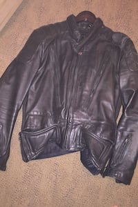 Men's size 44 leather motorcycle jacket. FirstGear by Hein Gericke  Abbotsford, V2T 6W9