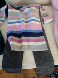 white, blue, and pink stripe sweater Newport News, 23601