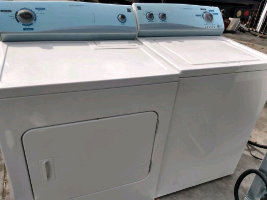 Photo Kenmore elite top load washer and dryer set