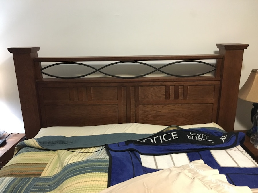 letgo Solid wood Queen size bed frame in Brooklyn NY