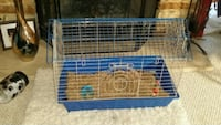 blue and white critter cage