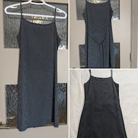 Small checkered dark blue/grey dress size small