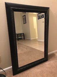 Big Black mirror wooden frame