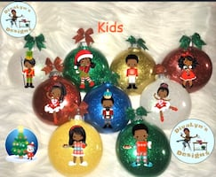 Afrocentric Christmas Balls Decorations Ornaments