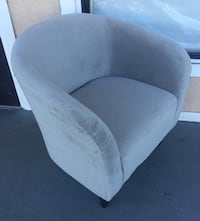 New Microfiber Tub Chair, Dove Grey