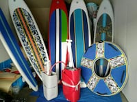 assorted surf boards