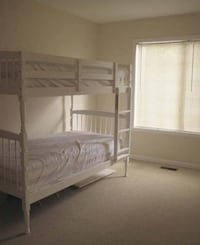 white wooden bunk bed with mattress Gaithersburg, 20878