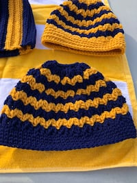 blue and yellow knitted textile Morgantown, 26505