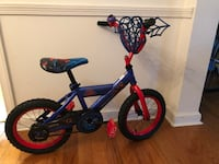Child's Spider-Man 14 inch Bicycle w/ training wheels