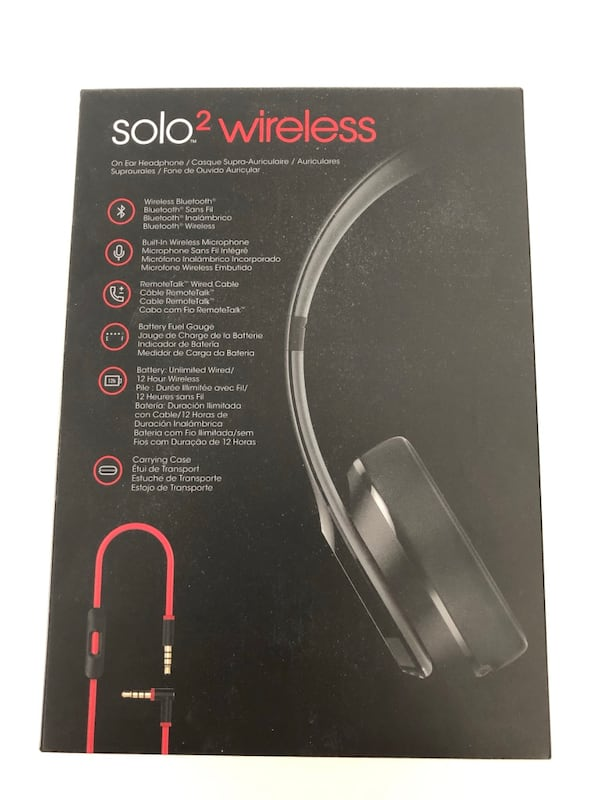 Black and red beats solo 2 wireless.little separation on the side, c40fe73c-fd9b-49ee-9925-67eb781b2769