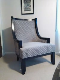 Black and silver gray  Chair Bloomingdale, 49026