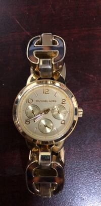round silver-colored chronograph watch with link bracelet Dallas, 30132