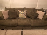 Sage suede 3-seat sofa and love seat Manassas, 20112