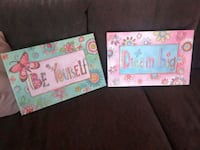2 canvas pictures/Girls room Halifax, B3N 2P8