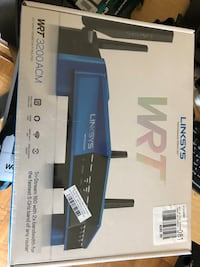 black and gray Linksys wireless router box Springfield, 22152