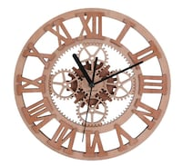 Wall Clock Decorative Unique Wooden Decorative Gear Round-shaped for Living Room Office Gym Cool Modern Art Family Home Decor Pitt Meadows, V3Y