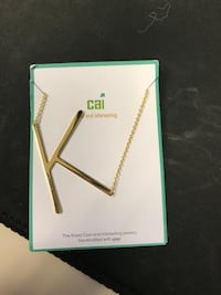 Gold Letter K Initial Necklace
